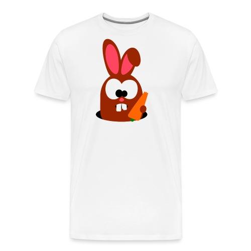 "Hase ""Georgi"" mit Karotte - Männer Premium T-Shirt"