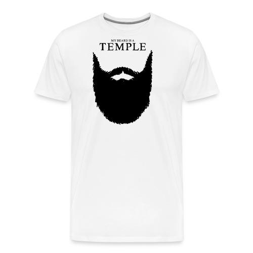 my beard is a temple - Männer Premium T-Shirt