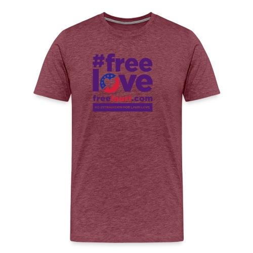freelovewhite01 - Men's Premium T-Shirt