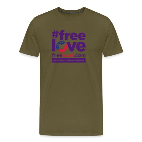 freelovewhite01 - Men's Premium T-Shirt