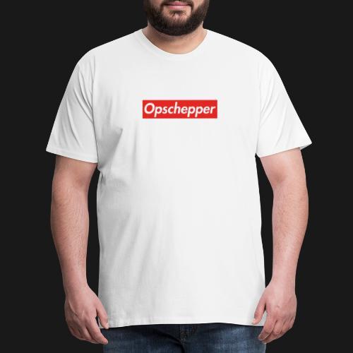 Opschepper Classic (Rood) - Mannen Premium T-shirt