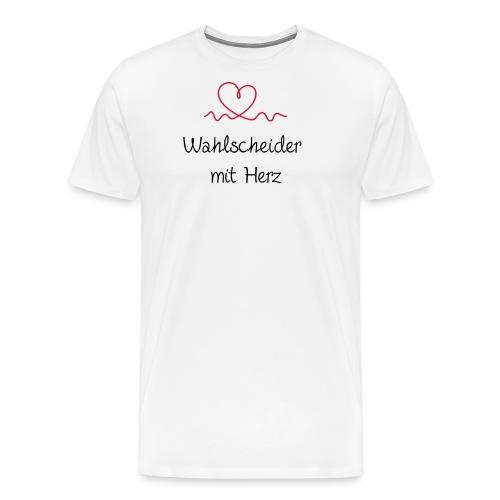 wahlscheider-mit-herz - Männer Premium T-Shirt