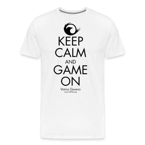 VG Keep Calm Black - Men's Premium T-Shirt