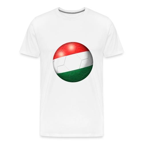 Fussball Ungarn Flagge 2 - Männer Premium T-Shirt