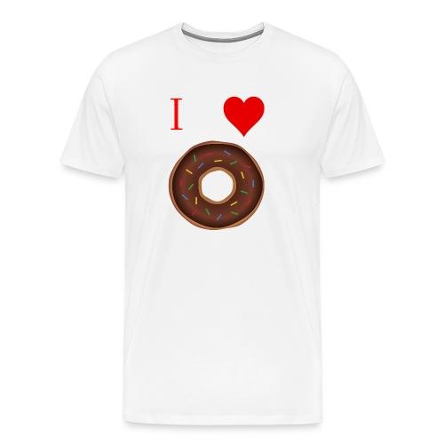 I ♥ donuts   T-shirt   Tiener/Man - Mannen Premium T-shirt