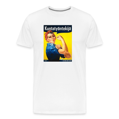 Kuntatyöntekijä hiirimatto (Rosie the Riveter) - Miesten premium t-paita