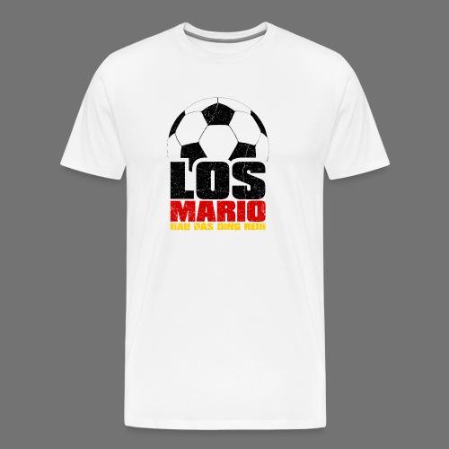 Fodbold - Go Mario, hau flytte ting i (3c - Herre premium T-shirt