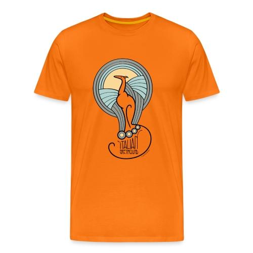 italian greyhound jugendstil 1 - Mannen Premium T-shirt