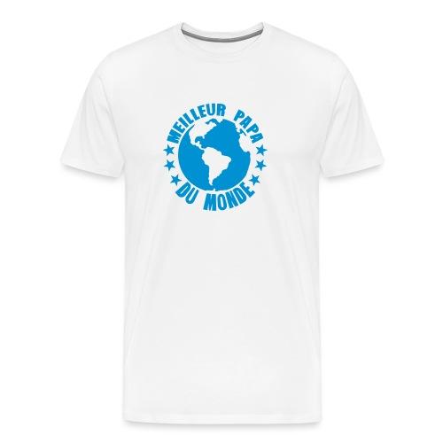 meilleur papa du monde terre planete - T-shirt Premium Homme
