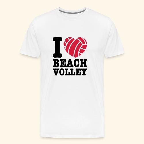 beach volley - Männer Premium T-Shirt