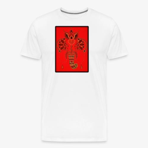 Elefant Orientalisch Handgemalt Geschenkidee - Männer Premium T-Shirt