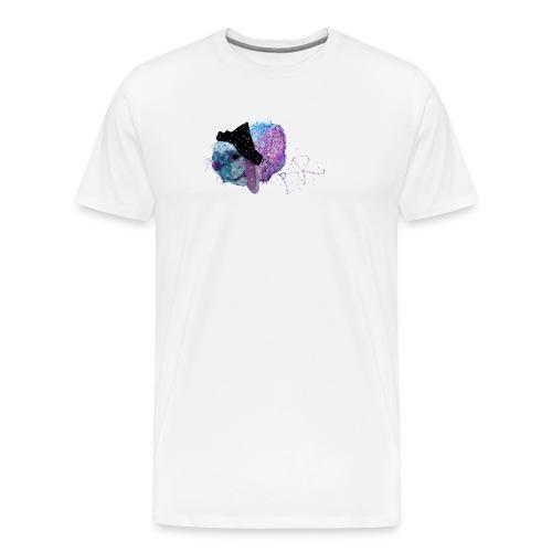 Polka Fizz Rabbit in Hat - Men's Premium T-Shirt