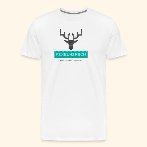 PIXELHIRSCH - Logo - Männer Premium T-Shirt