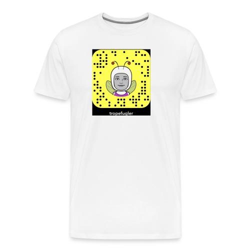 tropefugler snapchat - Premium T-skjorte for menn