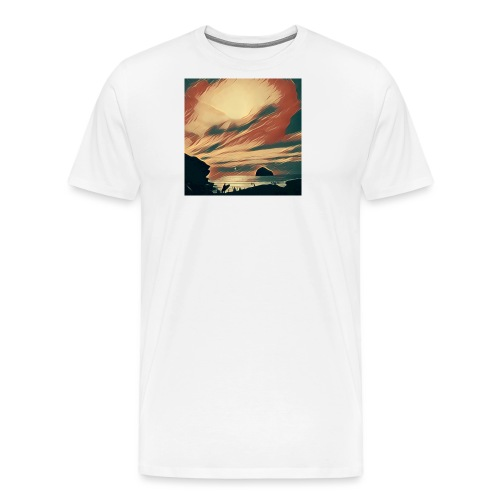 Cornwall Beach - Men's Premium T-Shirt