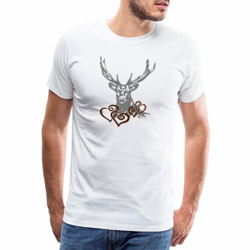 Hirschherz - Männer Premium T-Shirt