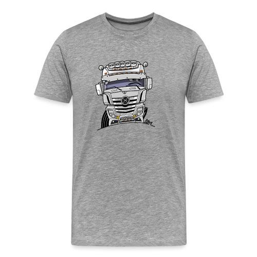 0807 M truck wit - Mannen Premium T-shirt