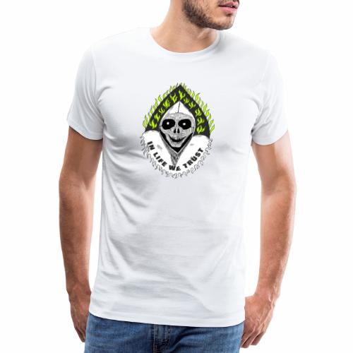 Image of death v2 with text IN LIFE WE TRUST - T-shirt Premium Homme