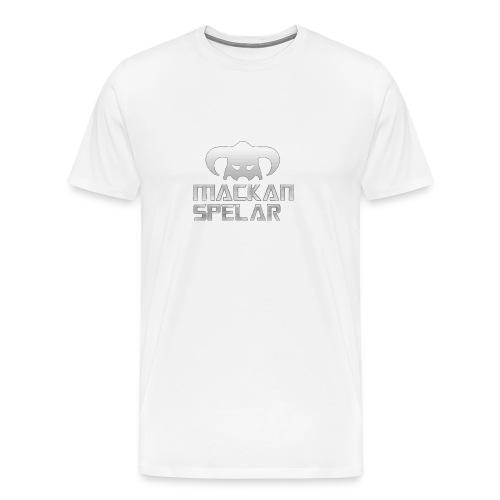 Mackanspelar 5/5s skal vit - Premium-T-shirt herr