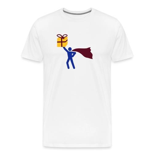 geschenk HEH 3 farb vektor - Männer Premium T-Shirt