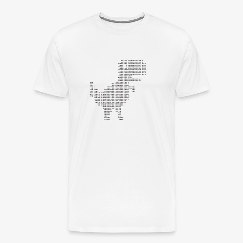 Dinosaur Binary | Google dinosaur | 404 | T-rex | - Men's Premium T-Shirt