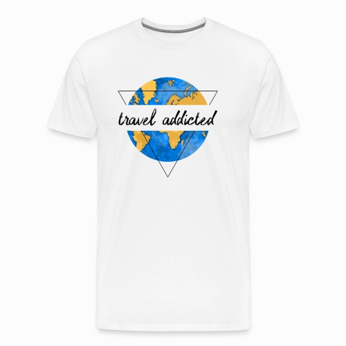 travel addicted reisesüchtig - Männer Premium T-Shirt