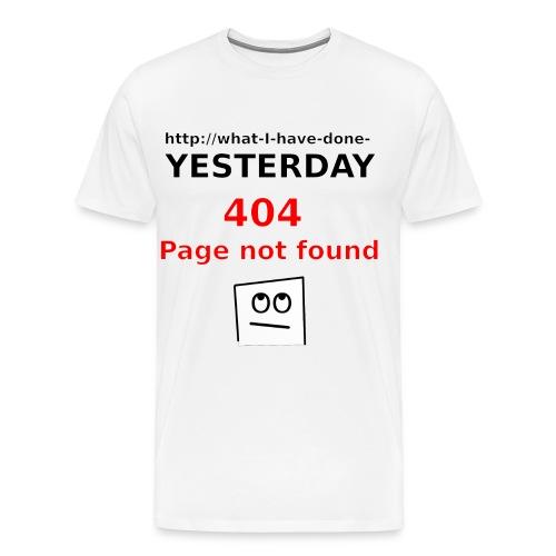 404 Page not found - Männer Premium T-Shirt