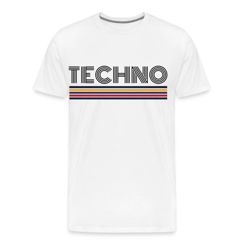 Techno Musik Retro Techno T-Shirt Geschenk - Männer Premium T-Shirt