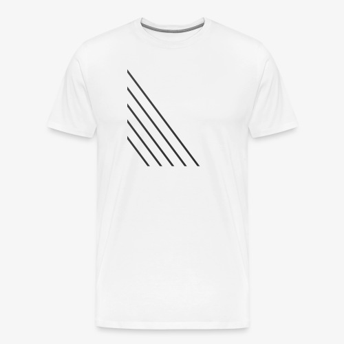 STRIPED - Herre premium T-shirt