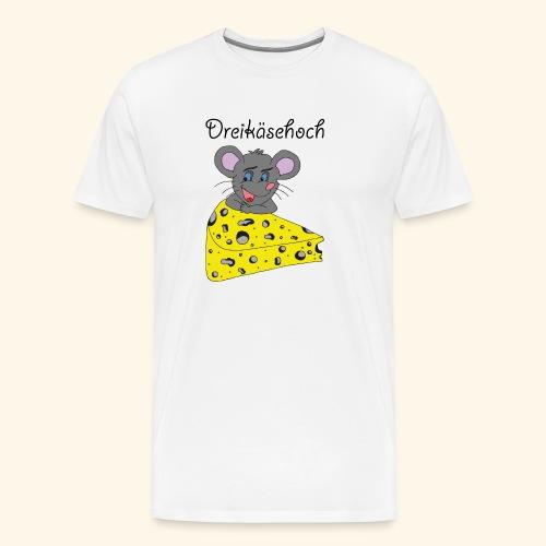Dreikäsehoch - schwarze Schrift - Männer Premium T-Shirt