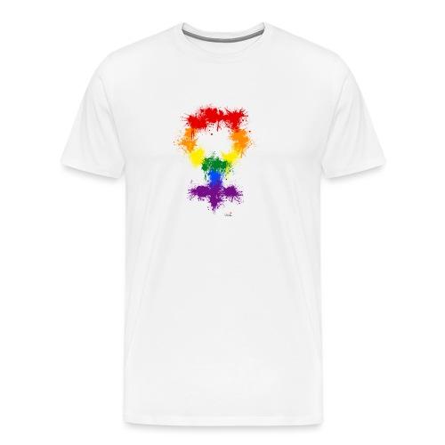 Raimbow XX symbole féminin - T-shirt Premium Homme