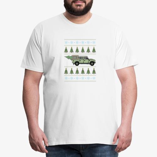 Defender Pickup - Christmas Tree - Premium-T-shirt herr