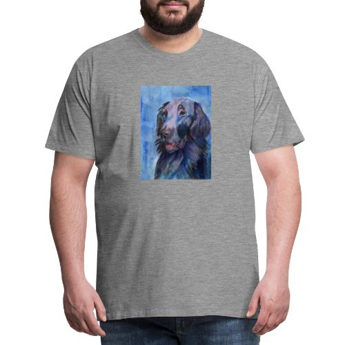 flatcoated retriever - watercolor - Herre premium T-shirt