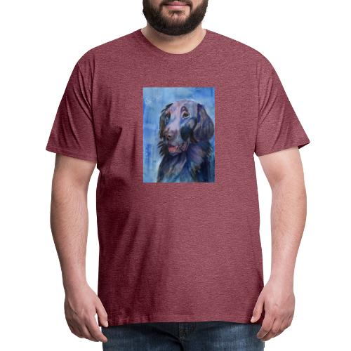 flatcoated retriever - watercolor - Herre premium T-shirt