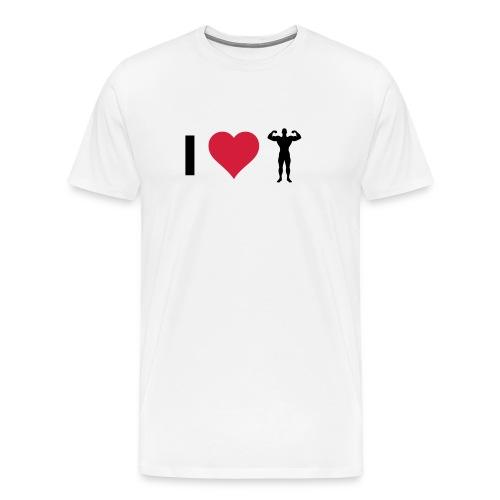 ilove_bodybuilding - Premium T-skjorte for menn