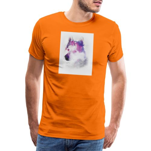 Pies husky - Koszulka męska Premium