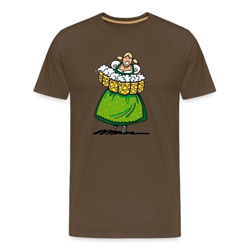 Oktoberfest Bedienung Maßkrüge - Männer Premium T-Shirt