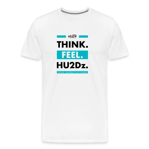 THINK FEEL HU2Dz Black White Shirt - Mannen Premium T-shirt