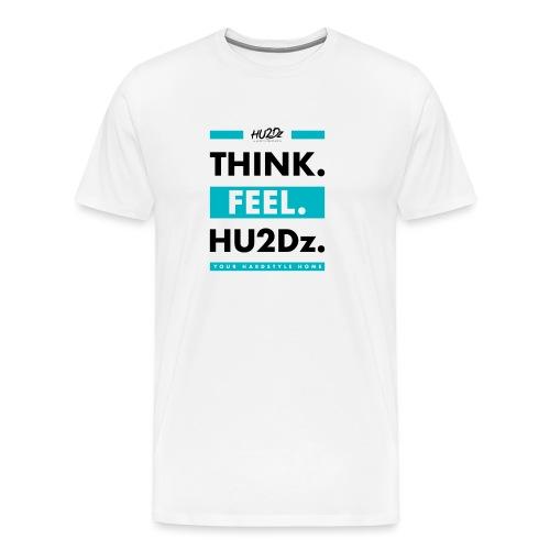 THINK FEEL HU2Dz Black White Shirt - Men's Premium T-Shirt