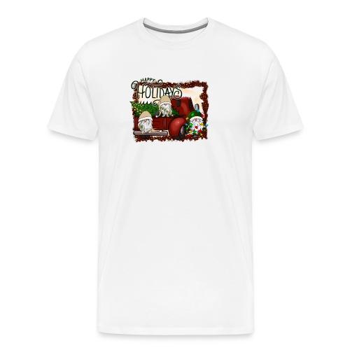 happy holidays gnomes Christmas Truck - Men's Premium T-Shirt