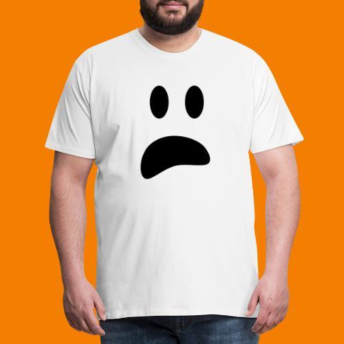 Skrämt spöke - Premium-T-shirt herr