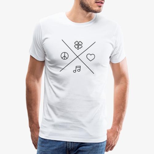 Peace - Love - Music - Luck - Männer Premium T-Shirt