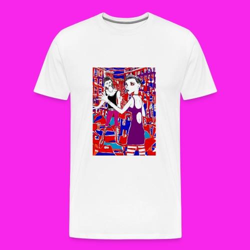 gothic city - Men's Premium T-Shirt