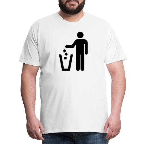 Strichmännchen Mülleimer - Männer Premium T-Shirt