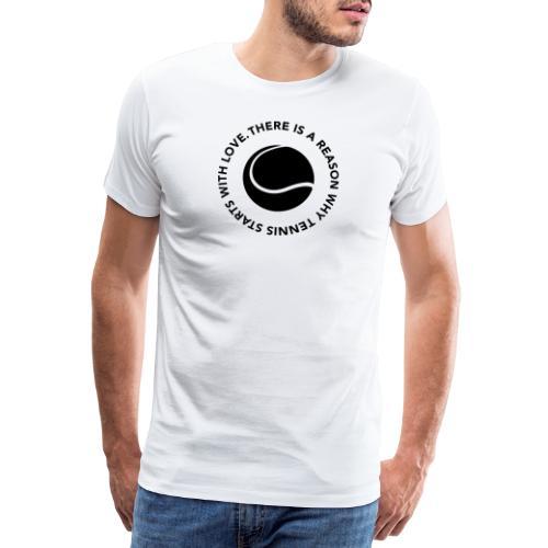 Tennis - LOVE - Männer Premium T-Shirt