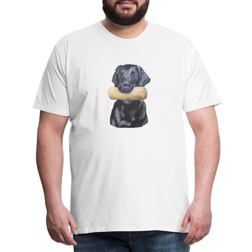 flatcoated retriever Dumbbell - Herre premium T-shirt