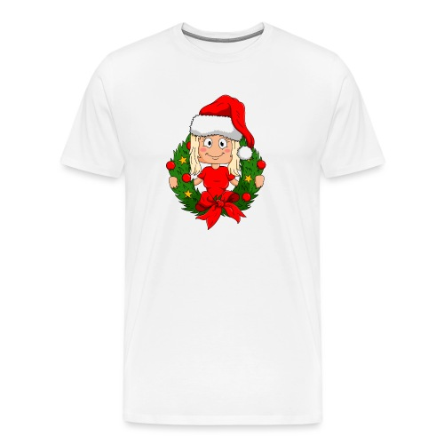 Yumi jul - Premium-T-shirt herr
