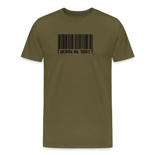 born in 1967 50th birthday 50. Geburtstag barcode - Men's Premium T-Shirt