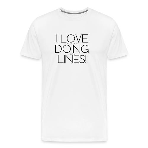 ThinLoveDoingLines3 - Men's Premium T-Shirt