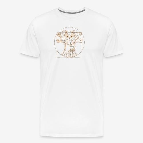Zcooly Vitruvian Pi - Premium-T-shirt herr